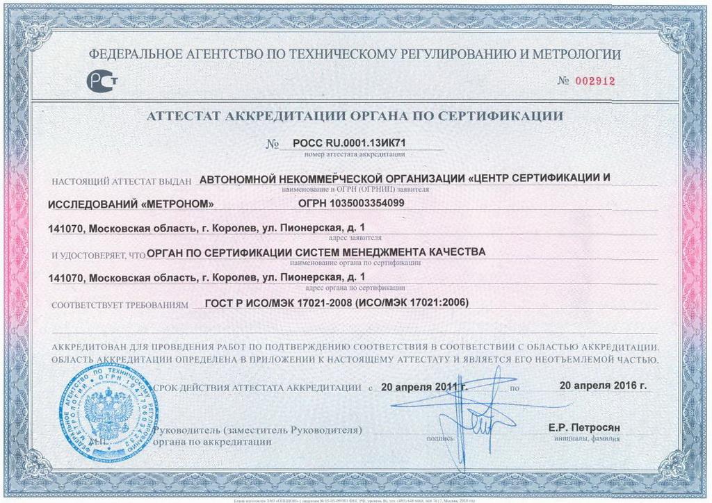 как орган по сертификации