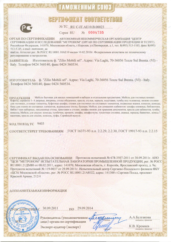 бланк сертификат соответствия продуктов питания бесплатно